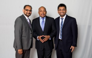 Nick Nagin and Chet Patel with  Daymond John from the ABC  show Shark Tank